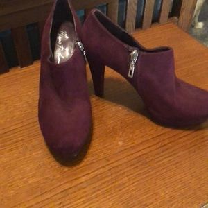 Plum Marc Fisher ankle boots